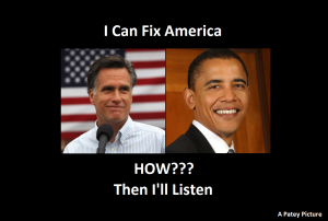 Obama and Romney How