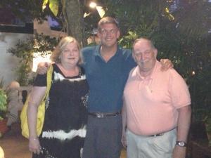 Jeannette, Bob & Rob Patey: Aruba 2013